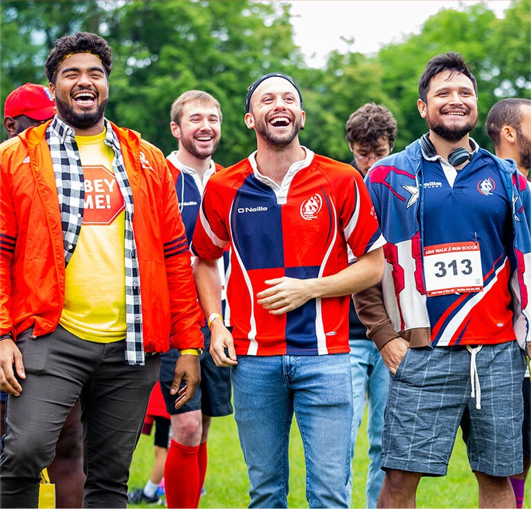 Group of male AIDS walkers